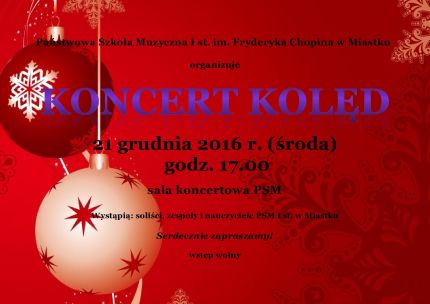 2016 plakat koncertu kolęd
